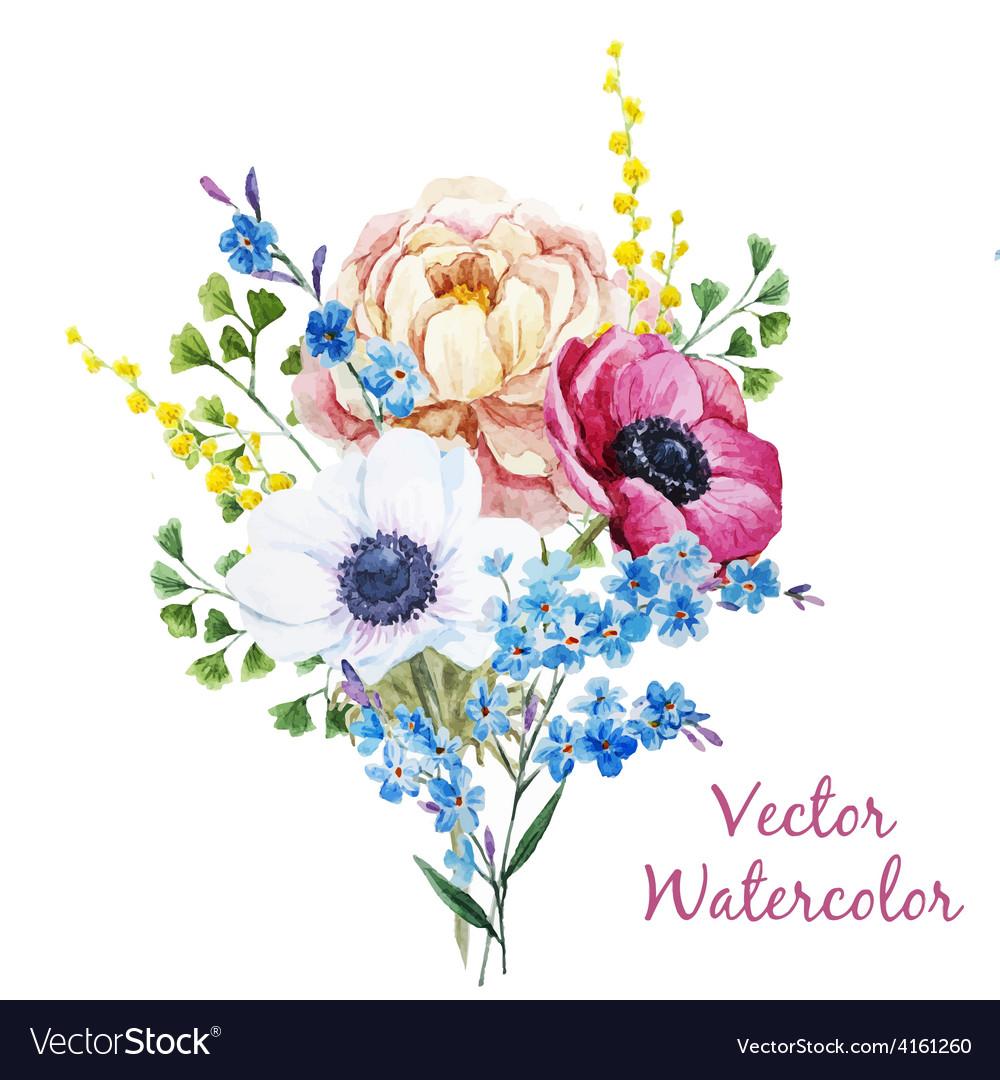 Anemones flowers vector | Price: 1 Credit (USD $1)