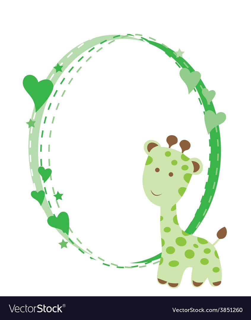 Baby giraffe vector | Price: 1 Credit (USD $1)