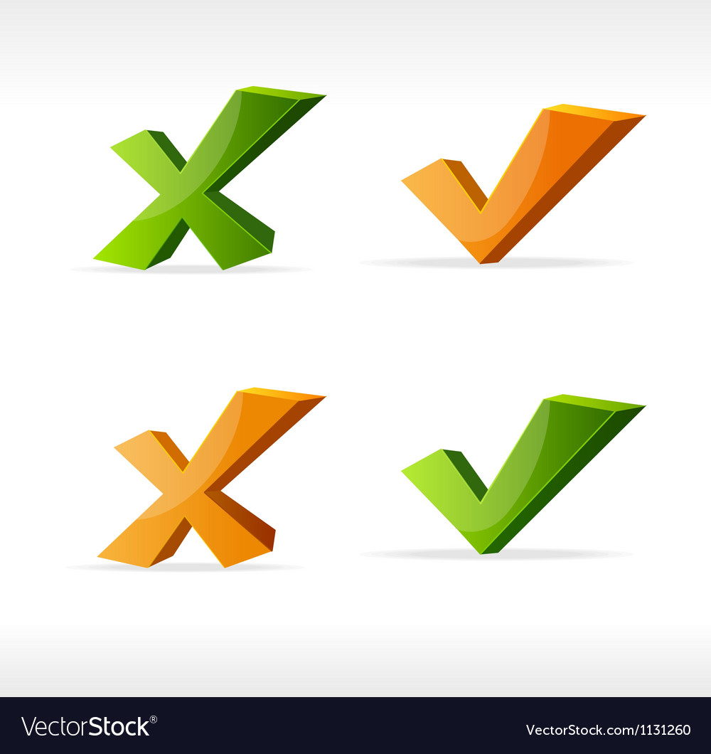 Check mark yes no vector | Price: 1 Credit (USD $1)