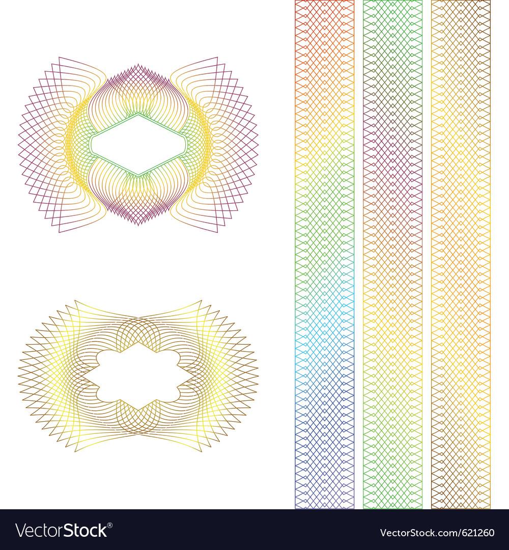 Decorative rosettes vector | Price: 1 Credit (USD $1)