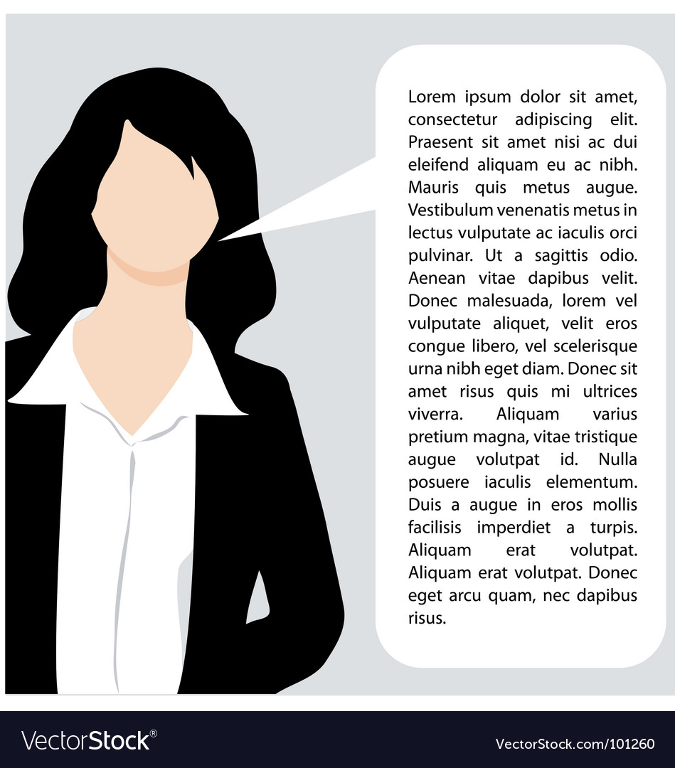 Explaining business woman illustration vector | Price: 1 Credit (USD $1)