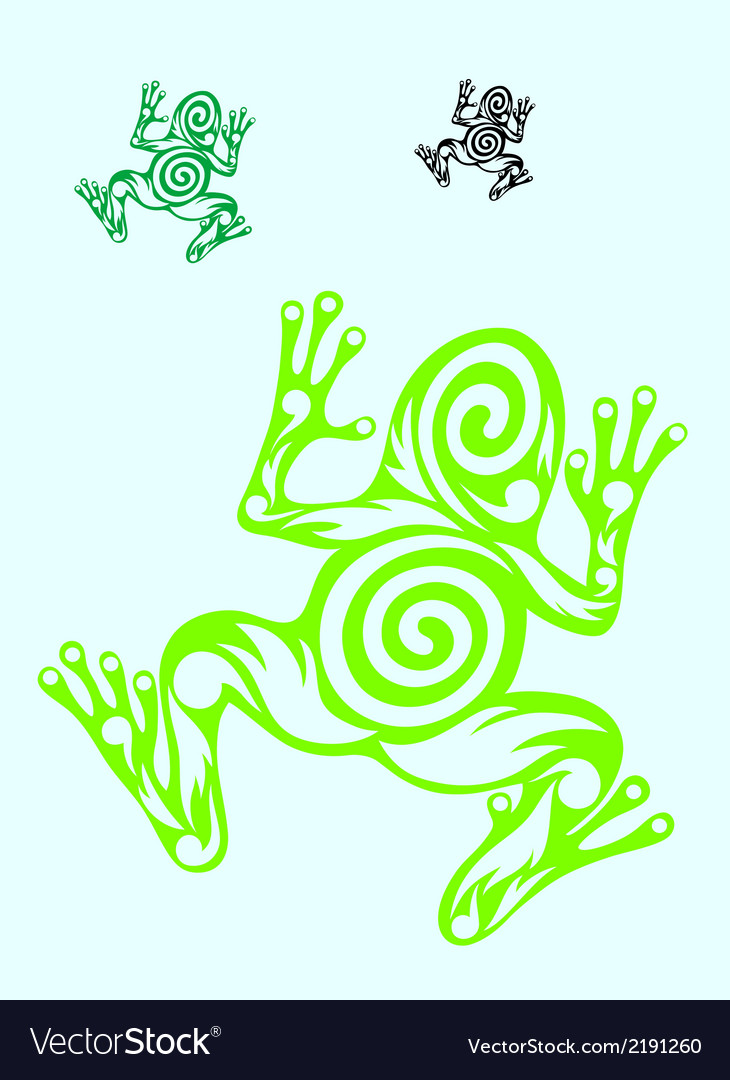 Frog ornate vector | Price: 1 Credit (USD $1)
