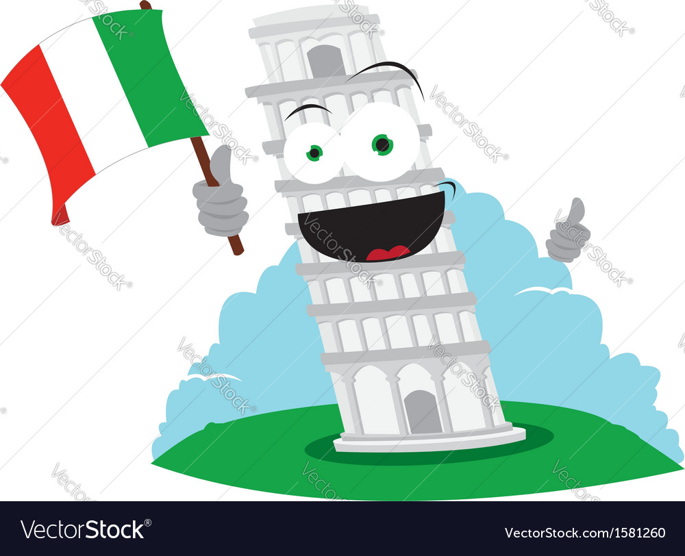 Funny pisa tower vector | Price: 1 Credit (USD $1)