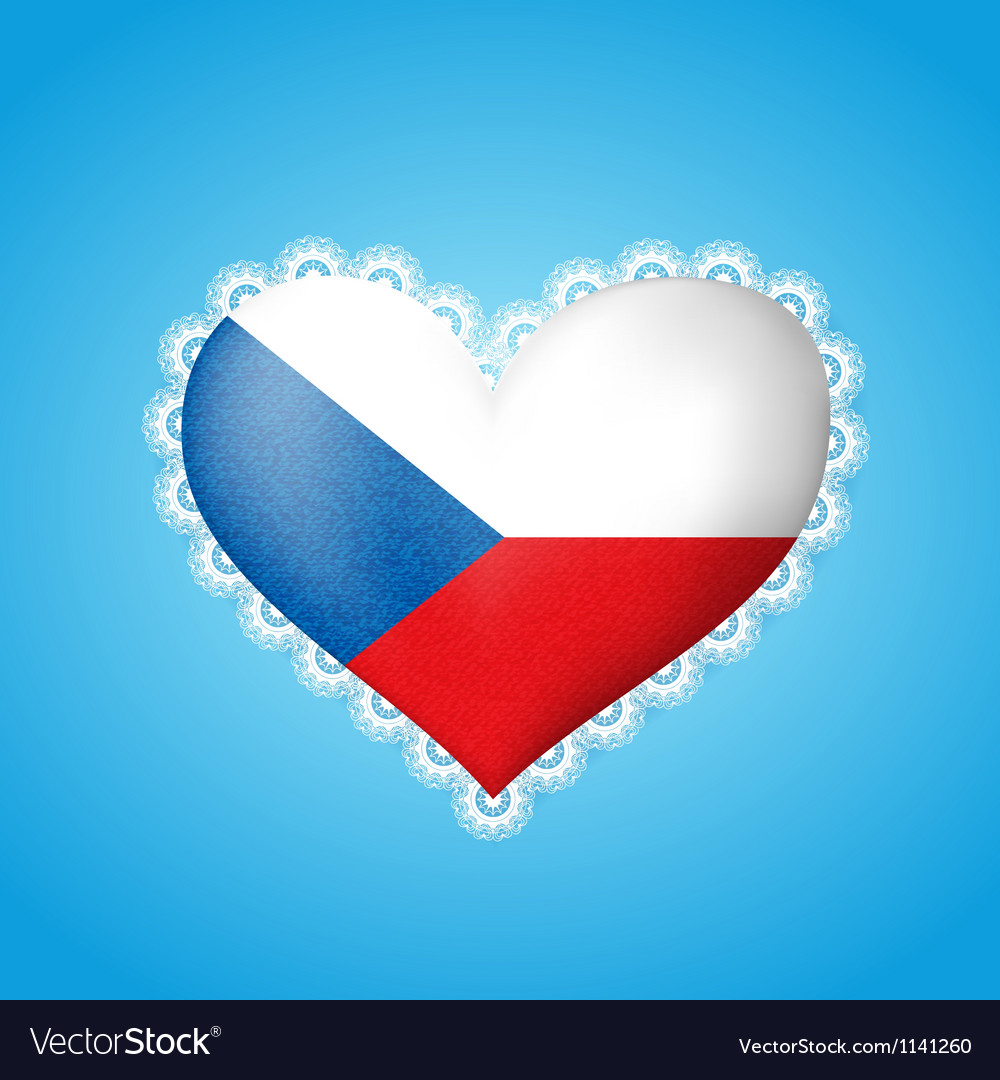 Heart shape czech flag vector | Price: 1 Credit (USD $1)