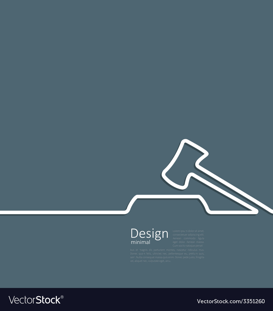 Icon of hammer judge template corporate style logo vector | Price: 1 Credit (USD $1)