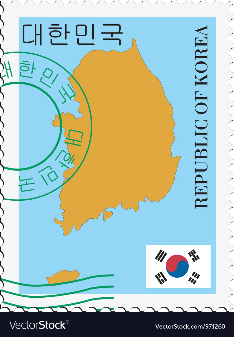 Mail to-from south korea vector | Price: 1 Credit (USD $1)