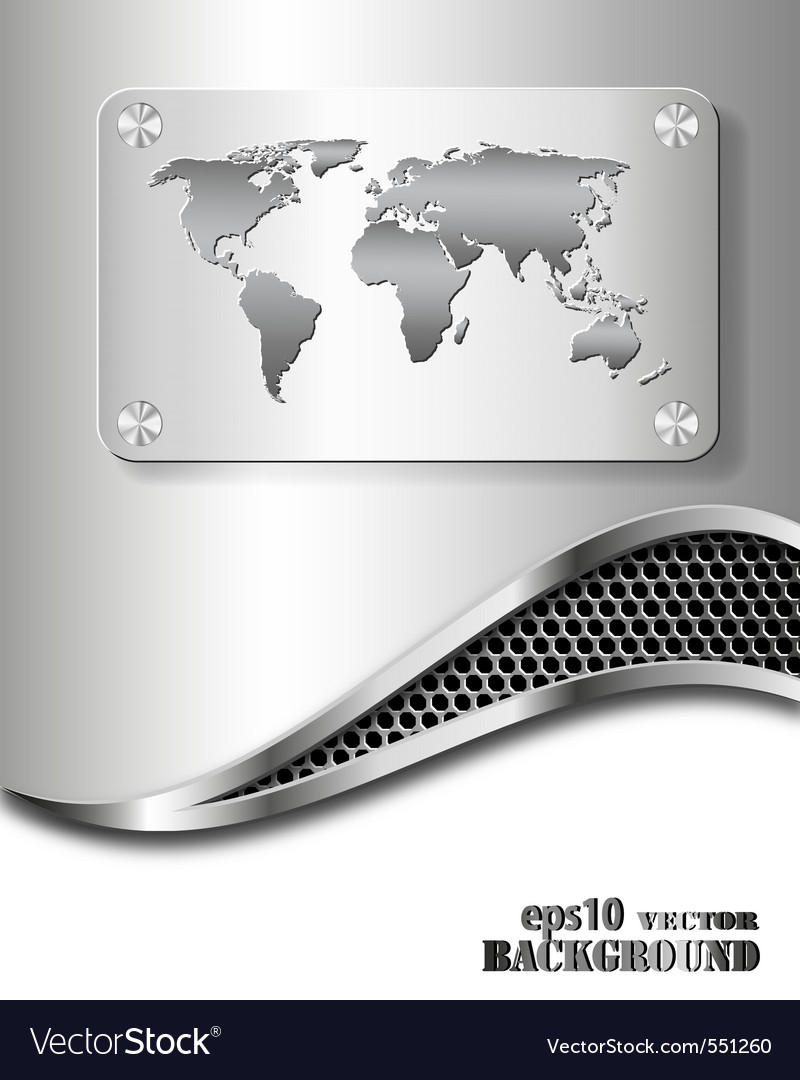 Metallic business background vector | Price: 1 Credit (USD $1)