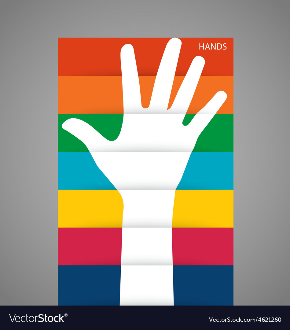 Photo of raised hand vector | Price: 1 Credit (USD $1)