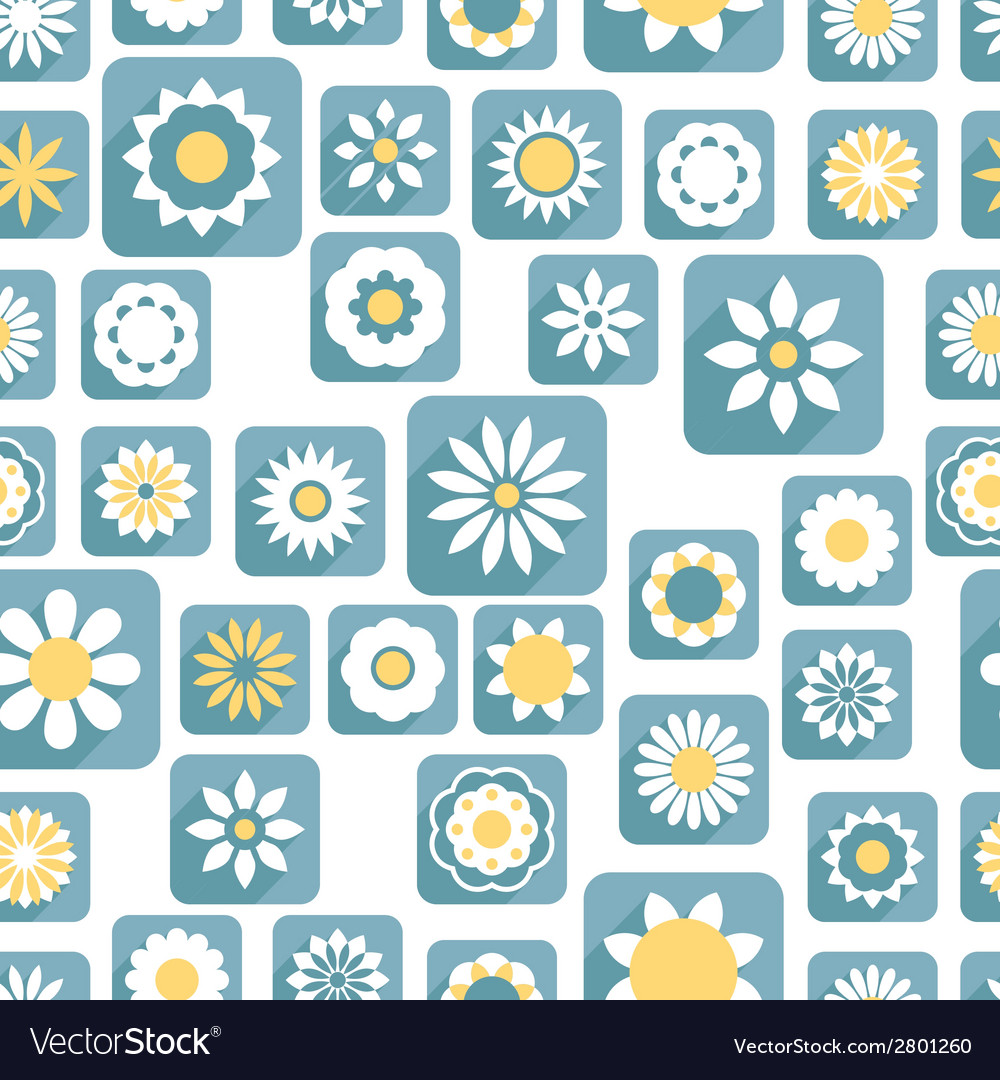 Seamless color decorative flower pattern vector | Price: 1 Credit (USD $1)