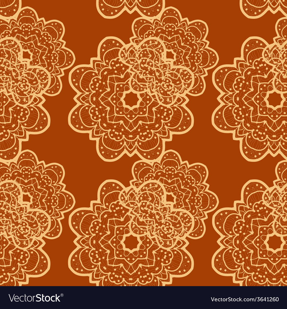 Seamless outlined mandala flower like background vector | Price: 1 Credit (USD $1)