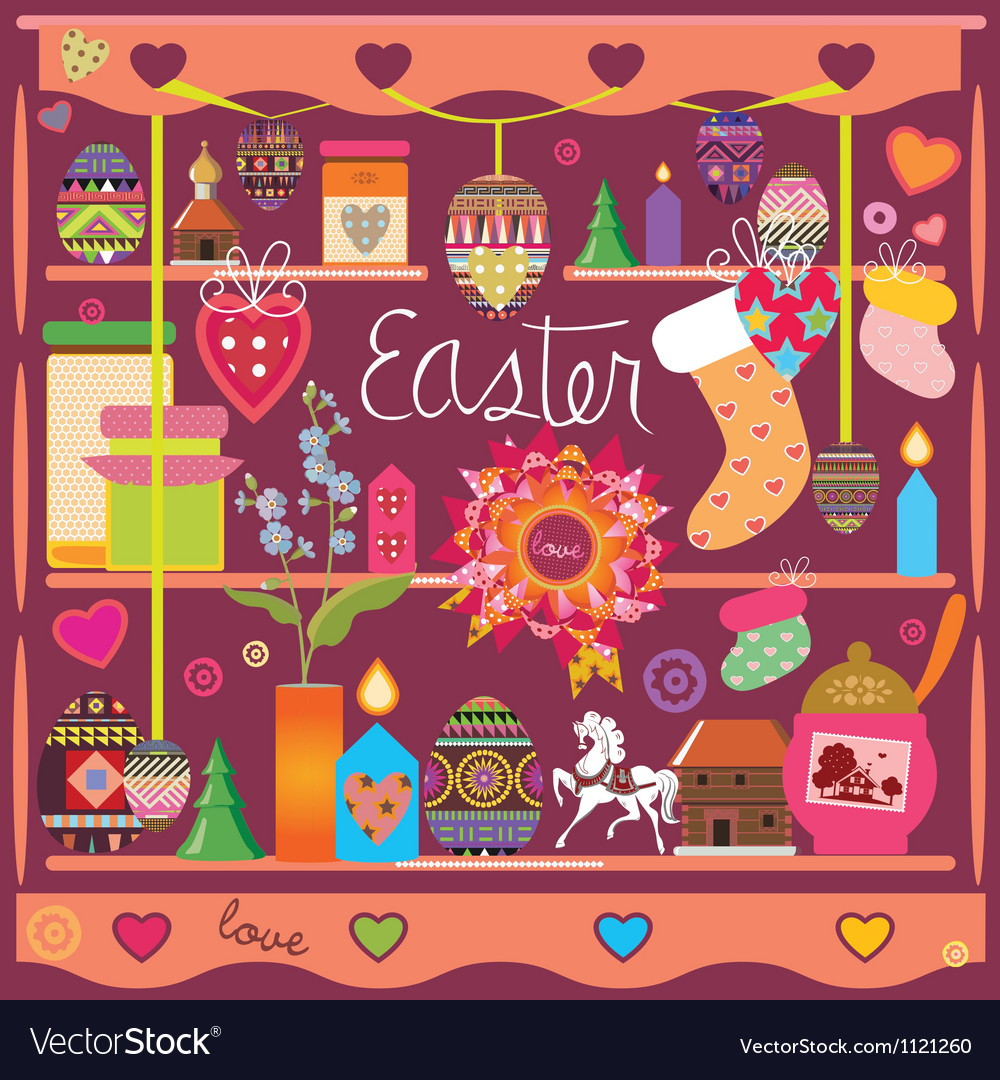Selection of design elements of an easter subject vector | Price: 1 Credit (USD $1)