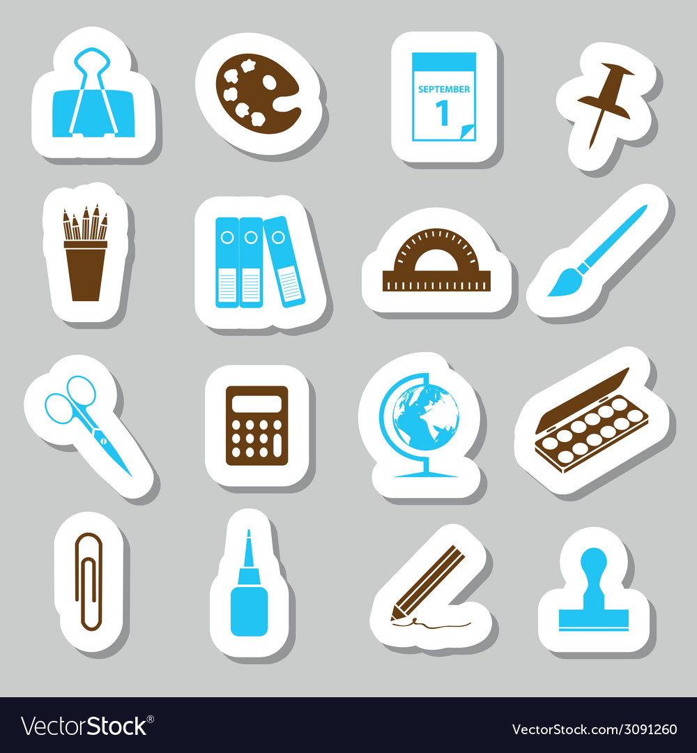 Stationery stickers vector | Price: 1 Credit (USD $1)