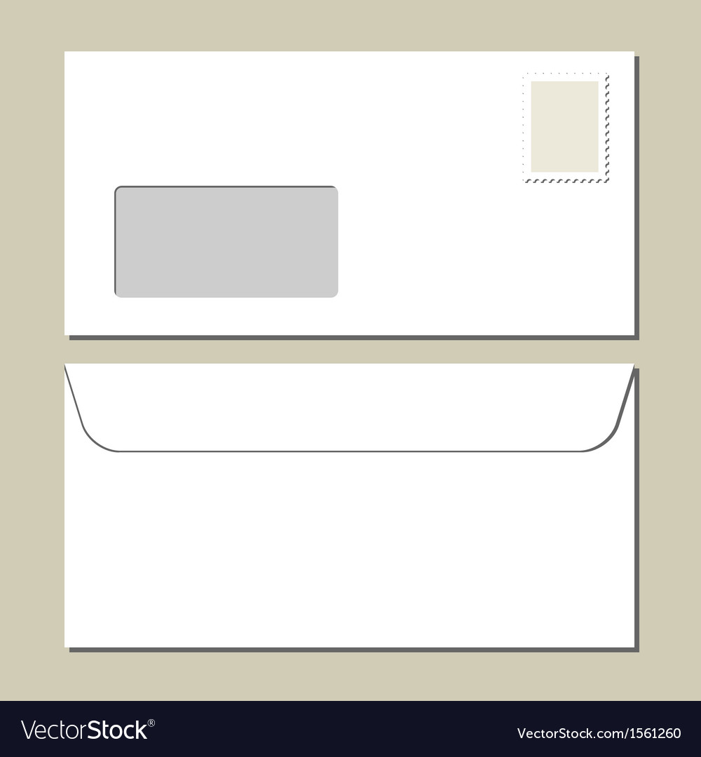 White mailing envelope vector | Price: 1 Credit (USD $1)