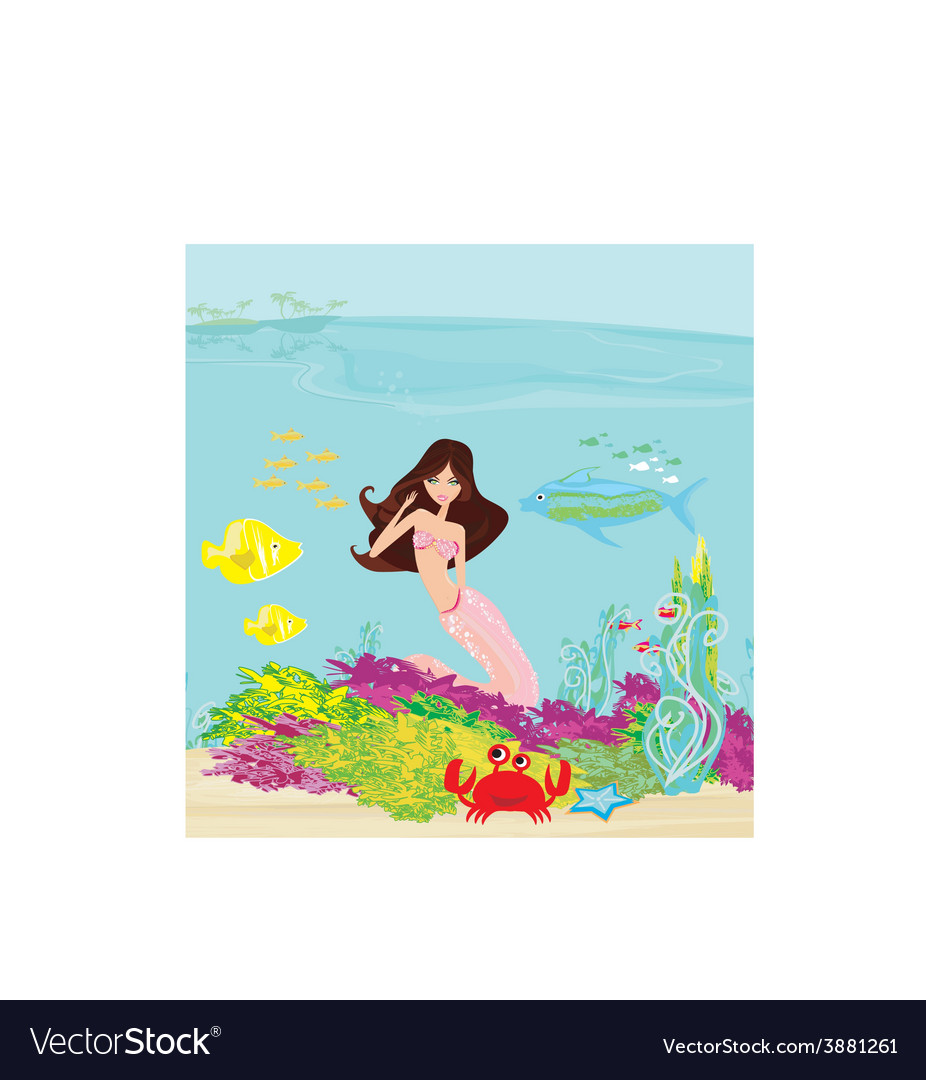 A beautiful mermaid vector | Price: 1 Credit (USD $1)