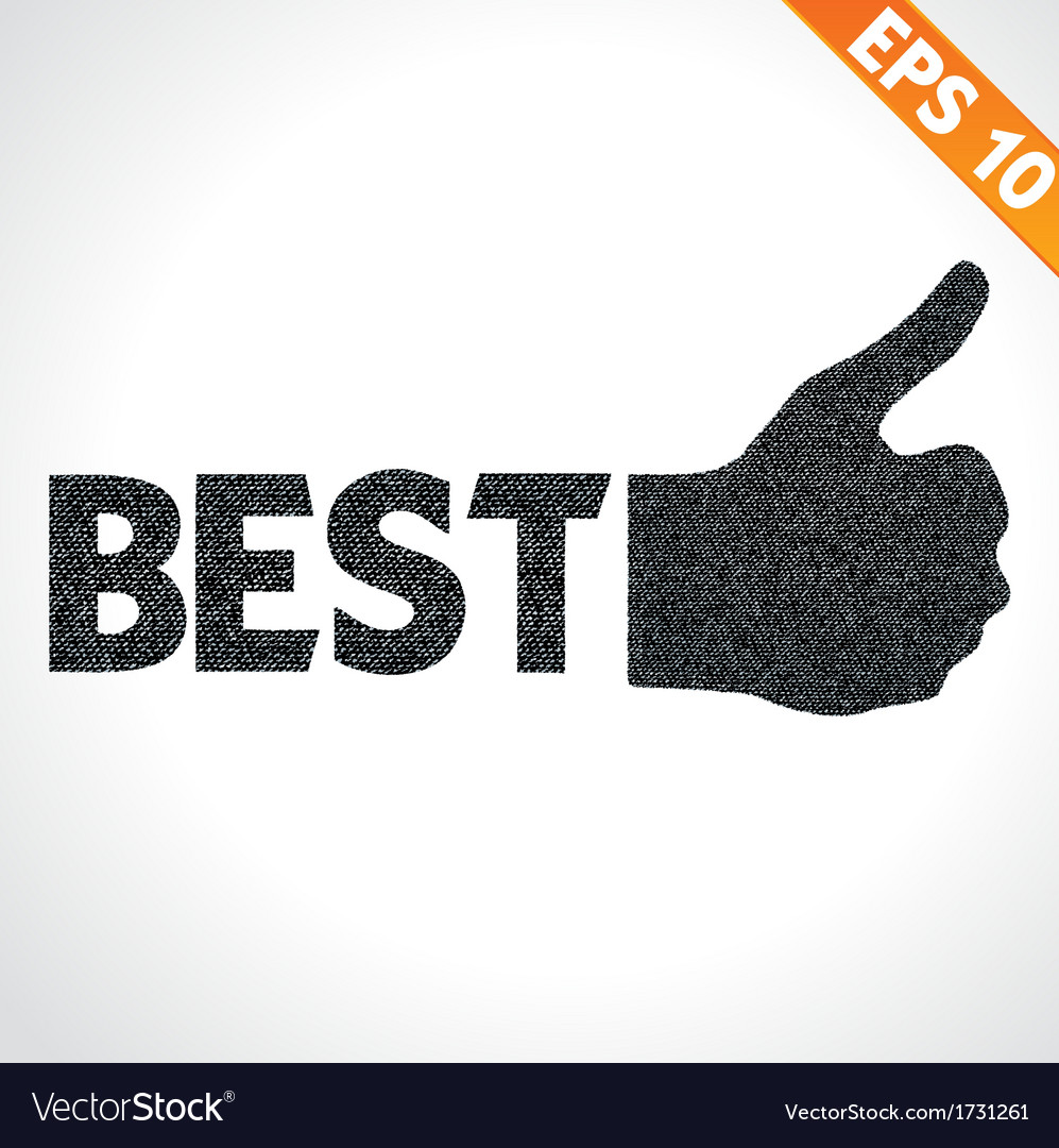 Best quality thumb up on denim style - - eps vector | Price: 1 Credit (USD $1)