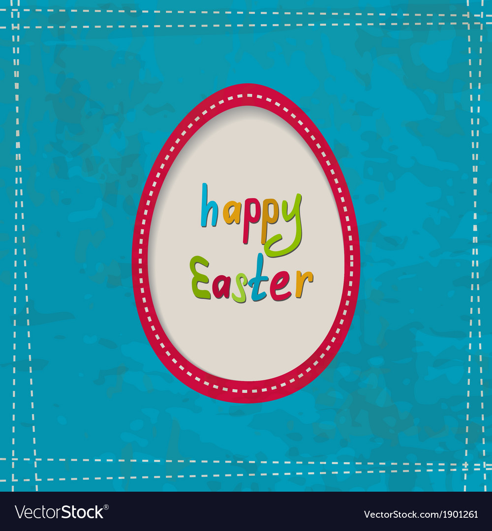Blue greeting card with an egg frame vector | Price: 1 Credit (USD $1)