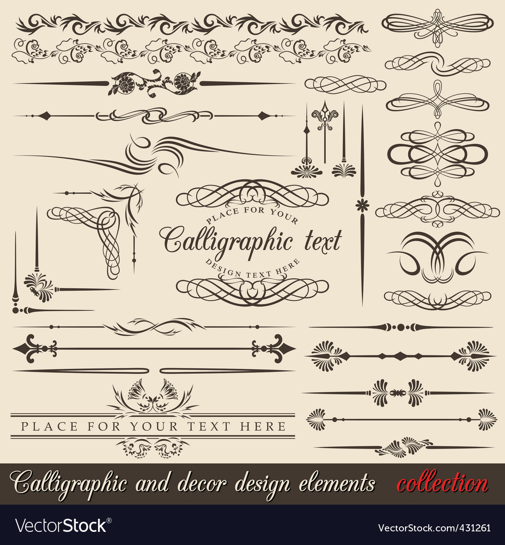 Calligraphy vector | Price: 1 Credit (USD $1)
