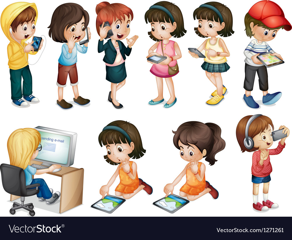 Different activities of young women vector | Price: 1 Credit (USD $1)