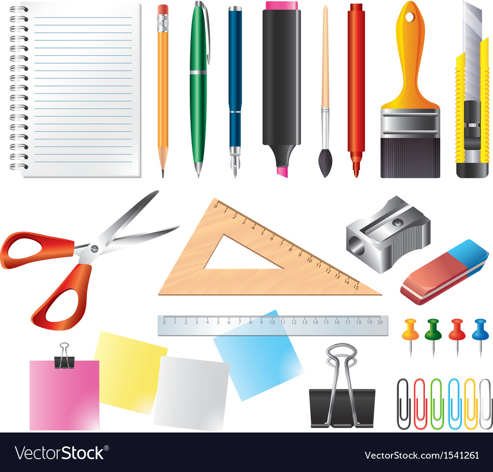 Drawing office set vector | Price: 1 Credit (USD $1)