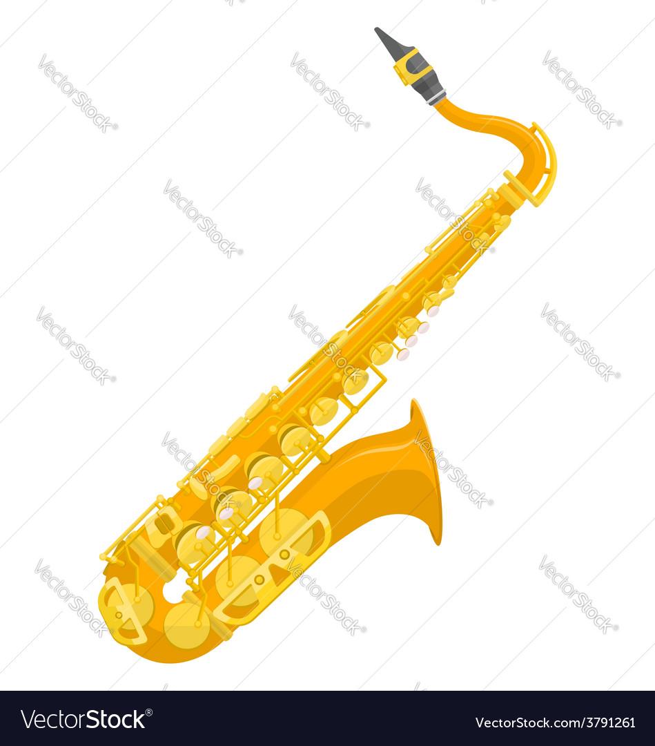 Flat design colored copper brass alto saxophone vector | Price: 1 Credit (USD $1)