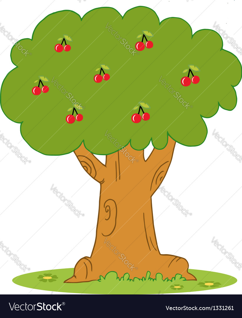 Lush cherry tree vector | Price: 1 Credit (USD $1)