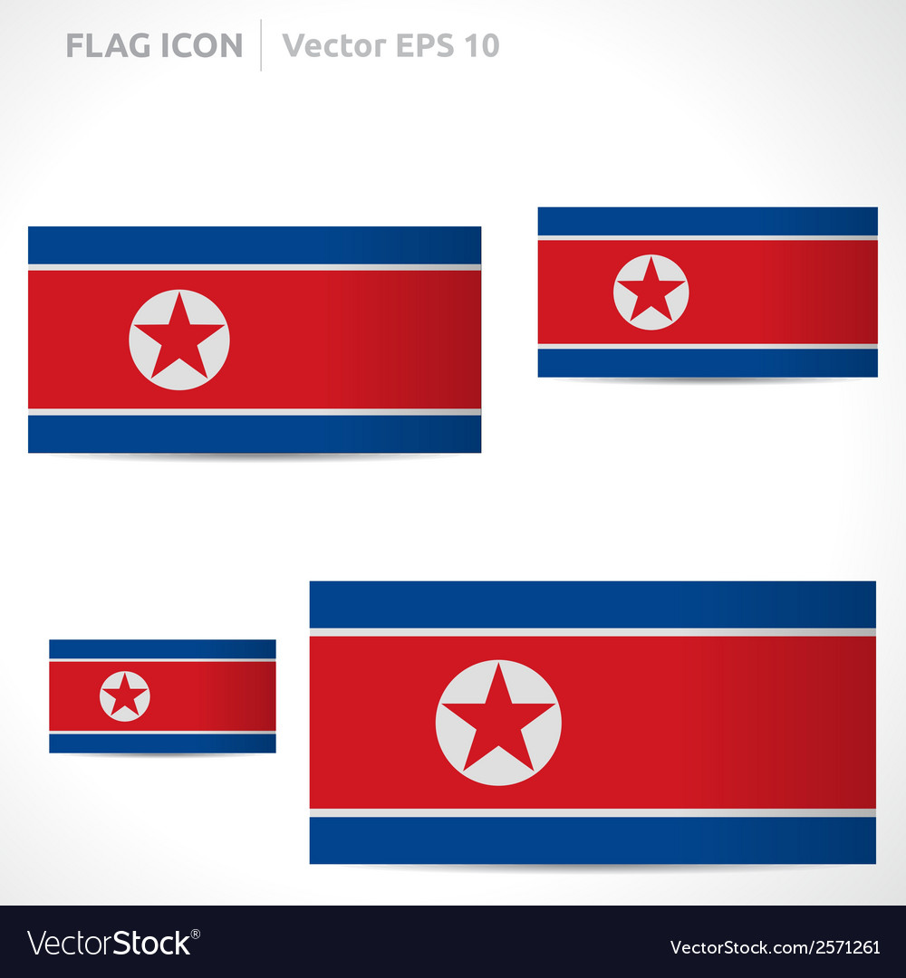North korea flag template vector | Price: 1 Credit (USD $1)