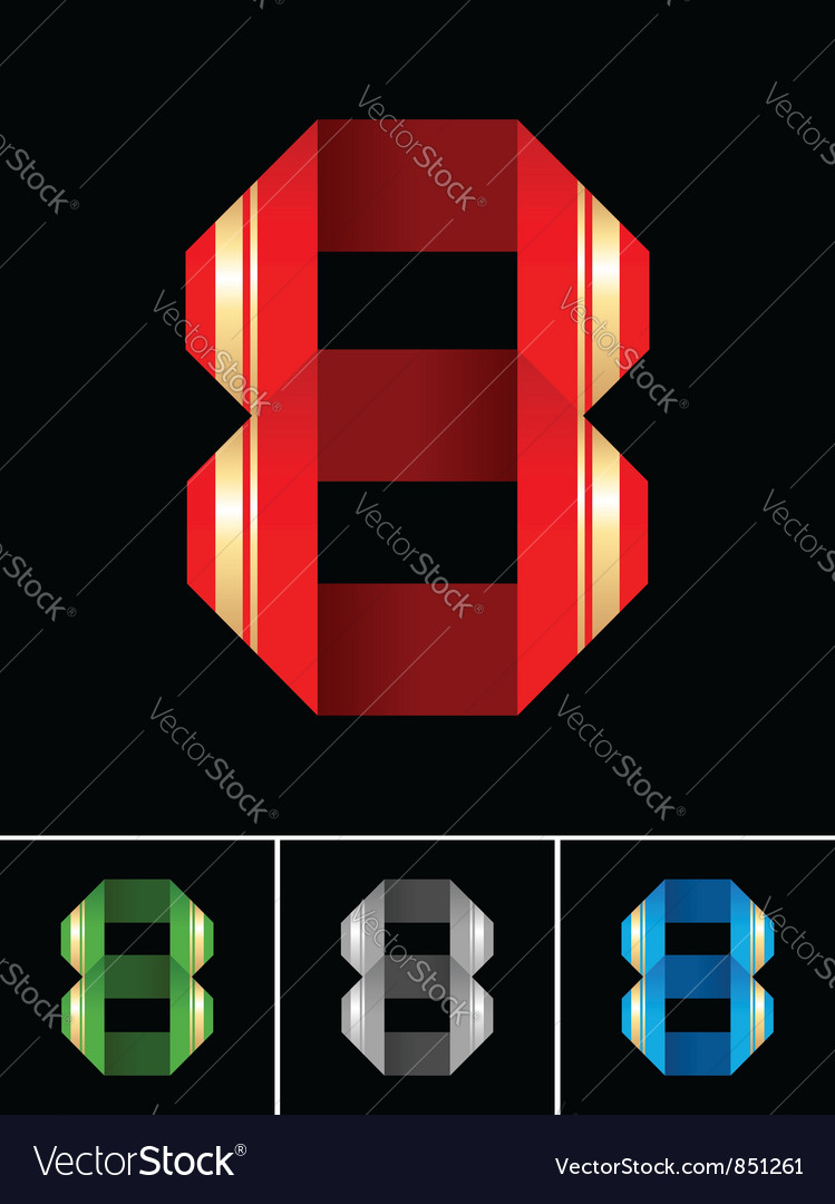 Numeral of paper tape - 8 vector | Price: 1 Credit (USD $1)