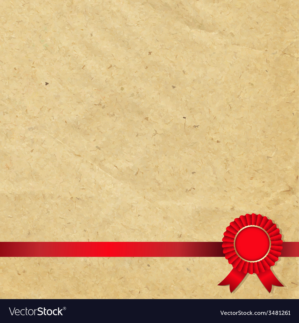 Old paper with red rosette vector | Price: 1 Credit (USD $1)