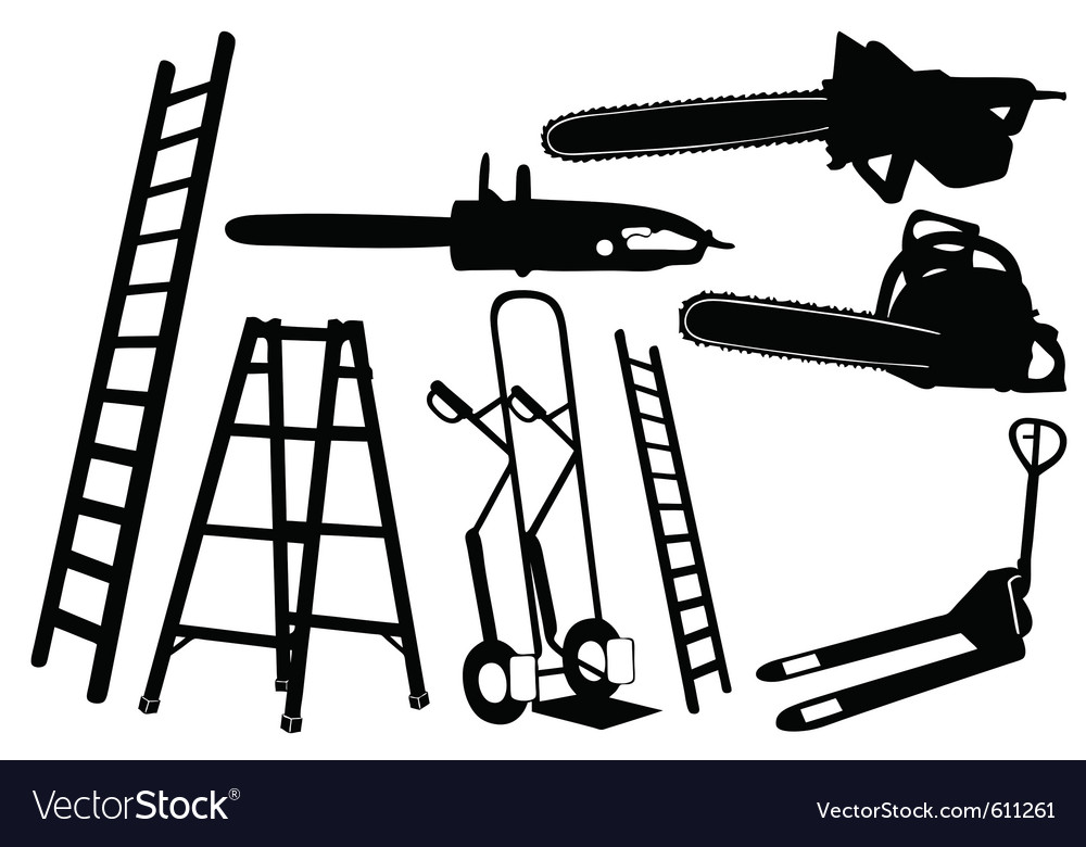 Set of tools and ladders vector | Price: 1 Credit (USD $1)