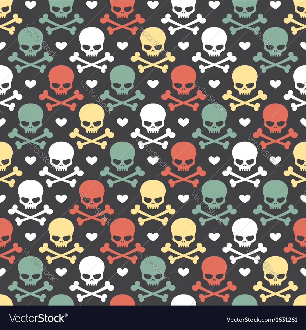 Skull seamless pattern vector   Price: 1 Credit (USD $1)
