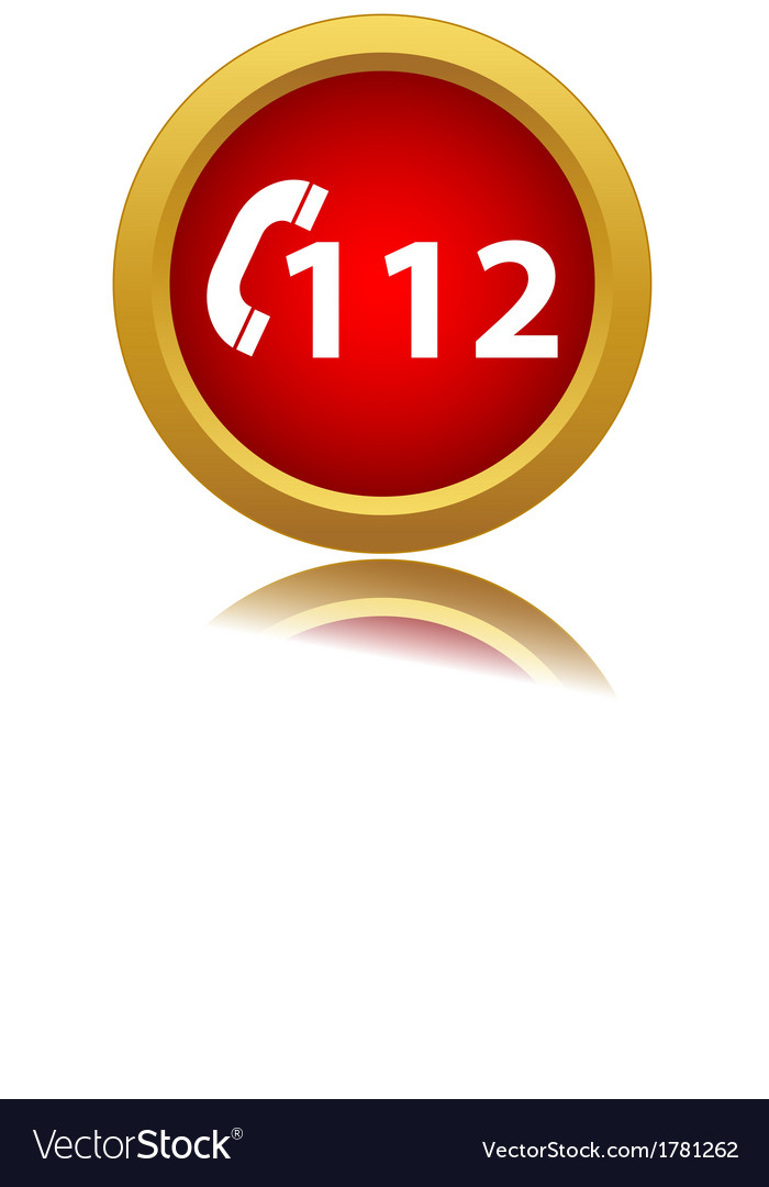 112 red icon vector | Price: 1 Credit (USD $1)
