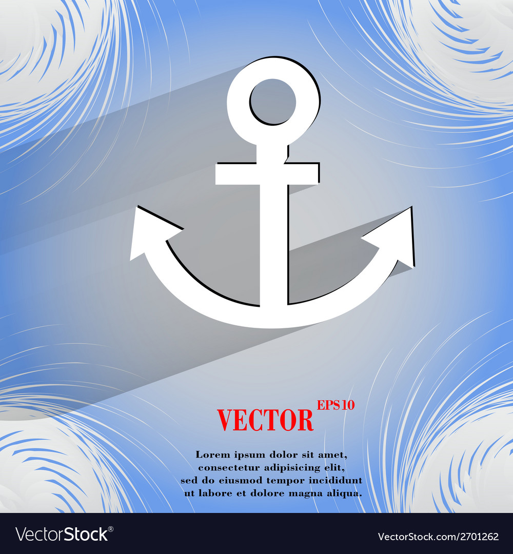 Anchor flat modern web design on a flat geometric vector | Price: 1 Credit (USD $1)