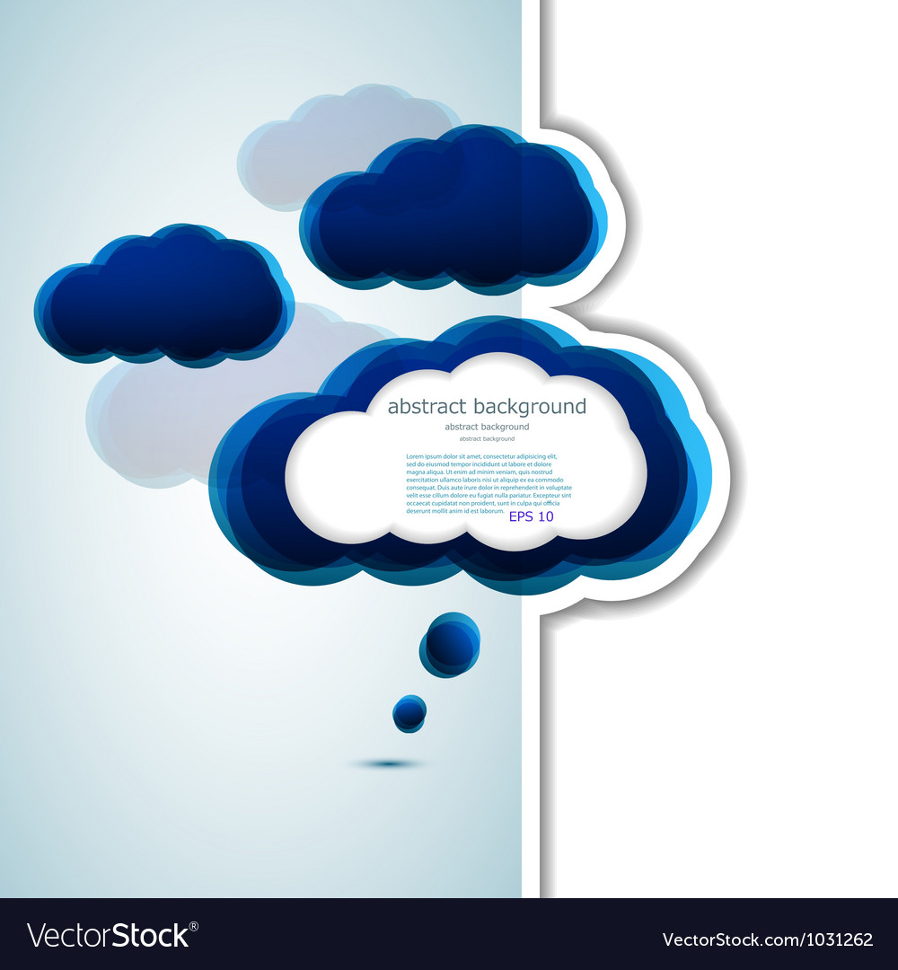 Cloud thought bubble vector | Price: 1 Credit (USD $1)