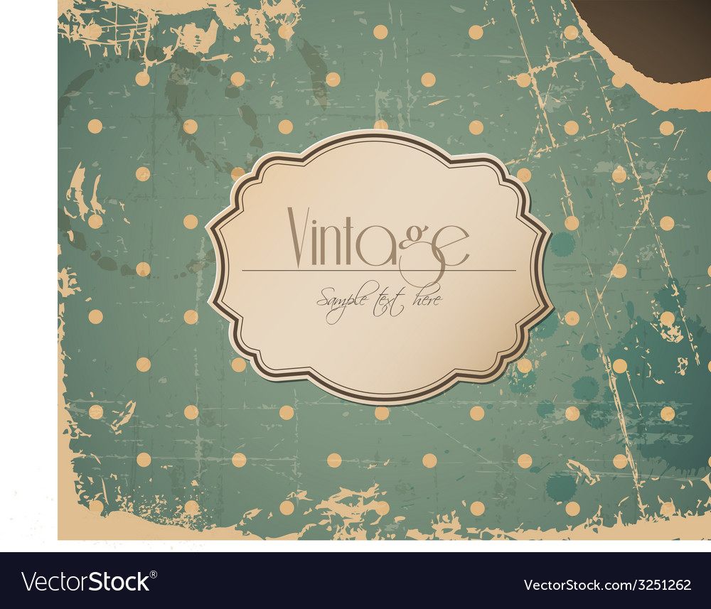 Grunge retro vintage background with label vector | Price: 1 Credit (USD $1)