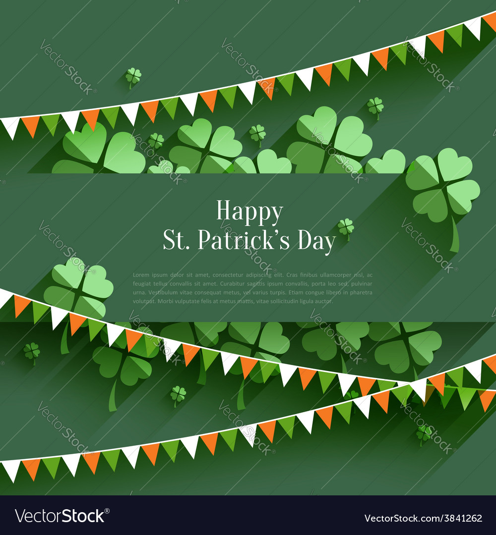 Happy st patricks day - greeting card in flat vector | Price: 1 Credit (USD $1)