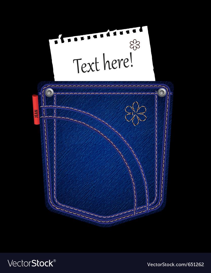 Jean pocket vector | Price: 1 Credit (USD $1)
