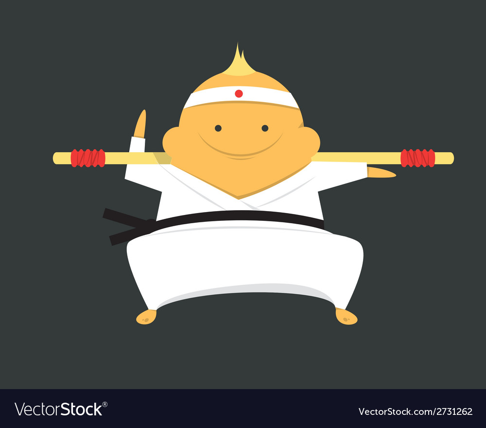 Karate fighter vector | Price: 1 Credit (USD $1)