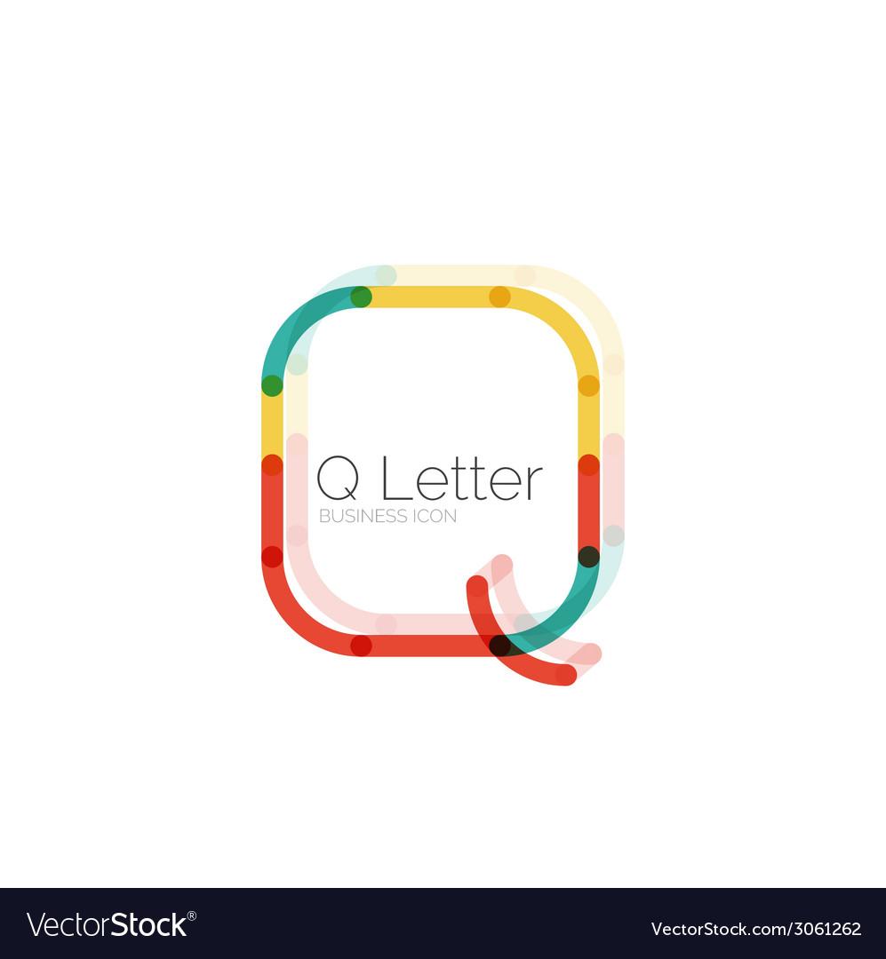 Minimal q font or letter logo design vector   Price: 1 Credit (USD $1)