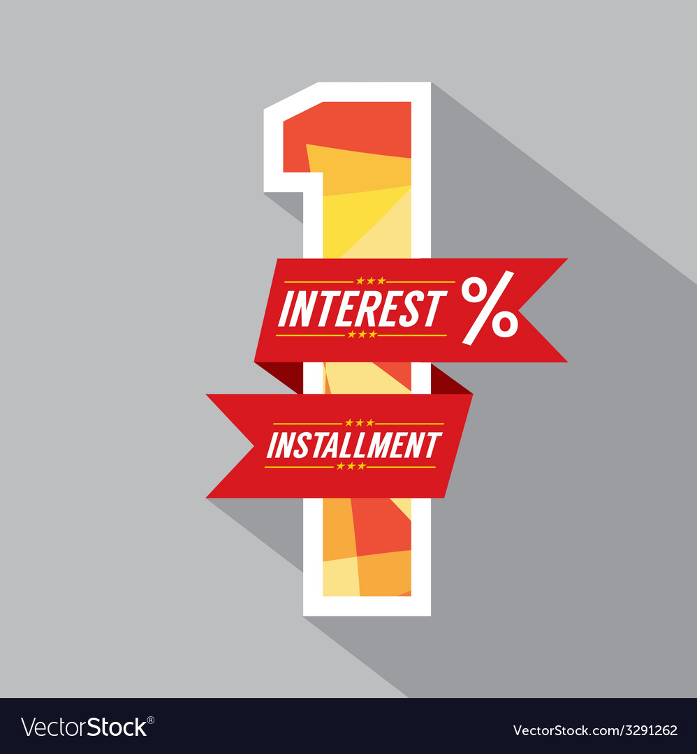 One percent interest installment vector | Price: 1 Credit (USD $1)