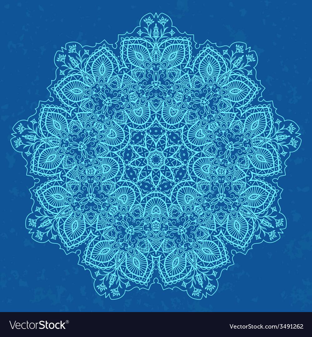 Ornamental round lace vector | Price: 1 Credit (USD $1)