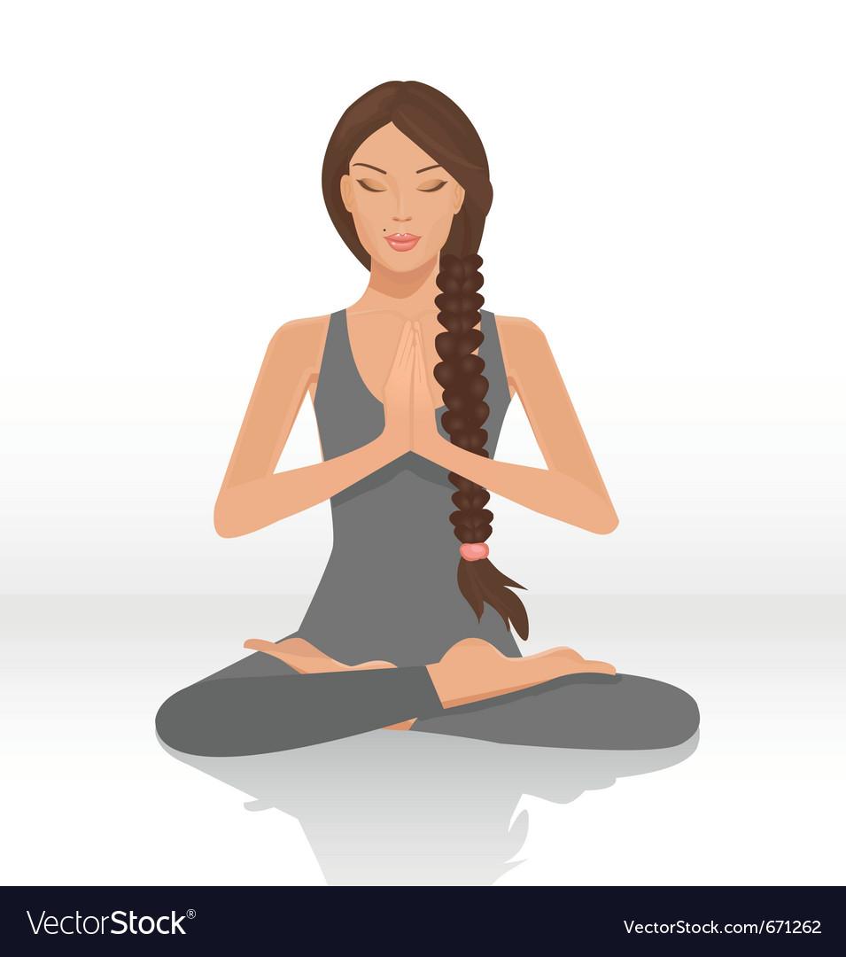 Yoga lotus position vector