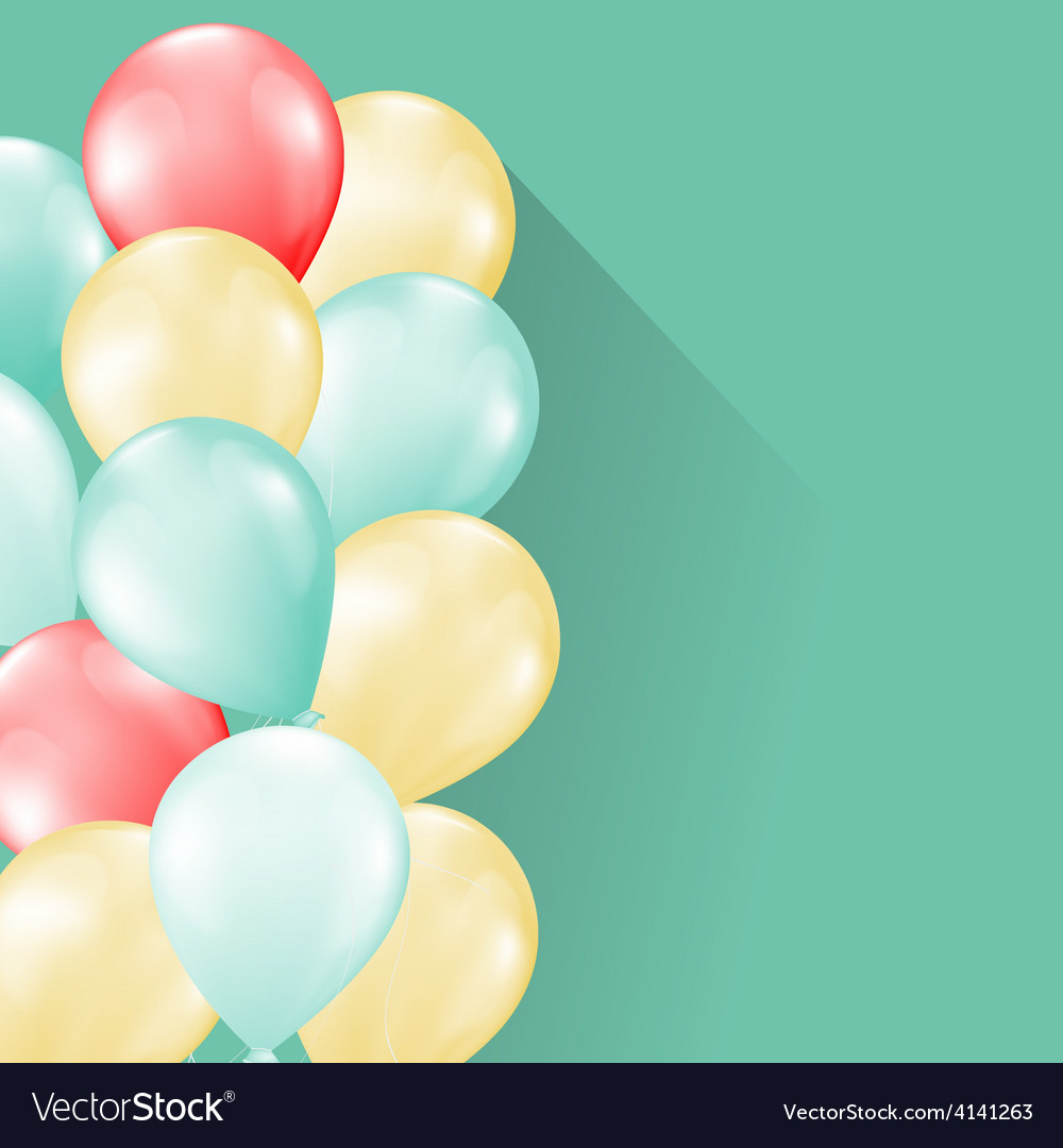Balloons soft background vector   Price: 1 Credit (USD $1)
