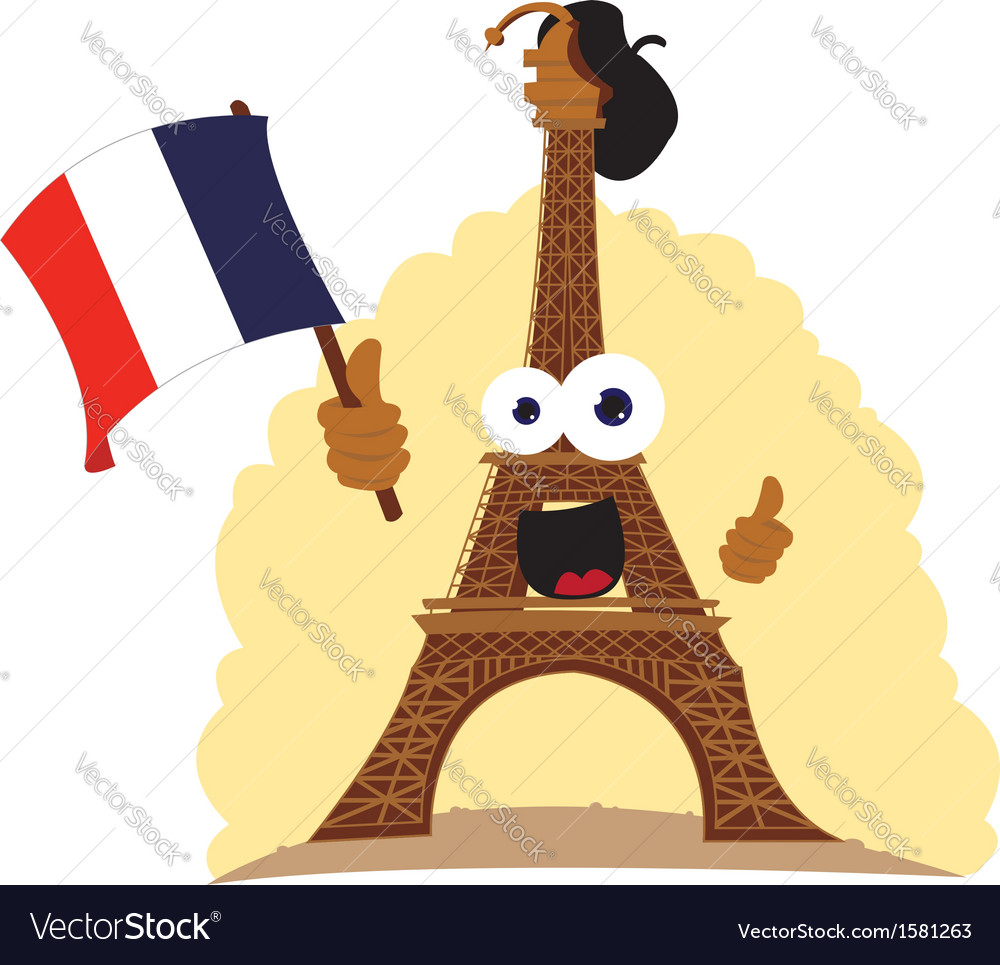 Funny tour eiffel vector | Price: 1 Credit (USD $1)