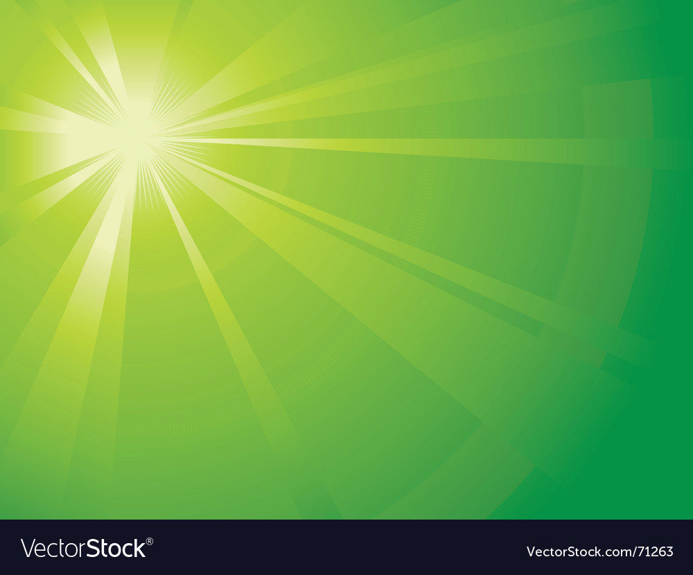 Green light burst vector | Price: 1 Credit (USD $1)