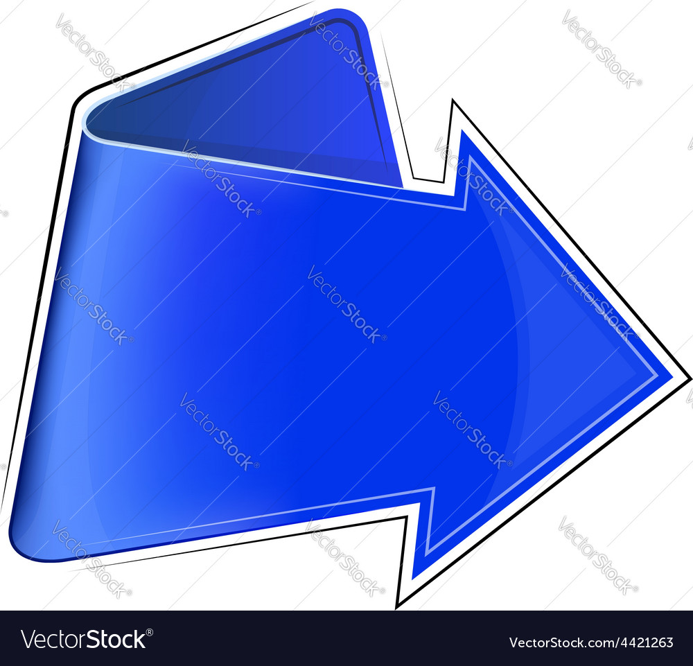 Icon with blue arrow vector | Price: 1 Credit (USD $1)