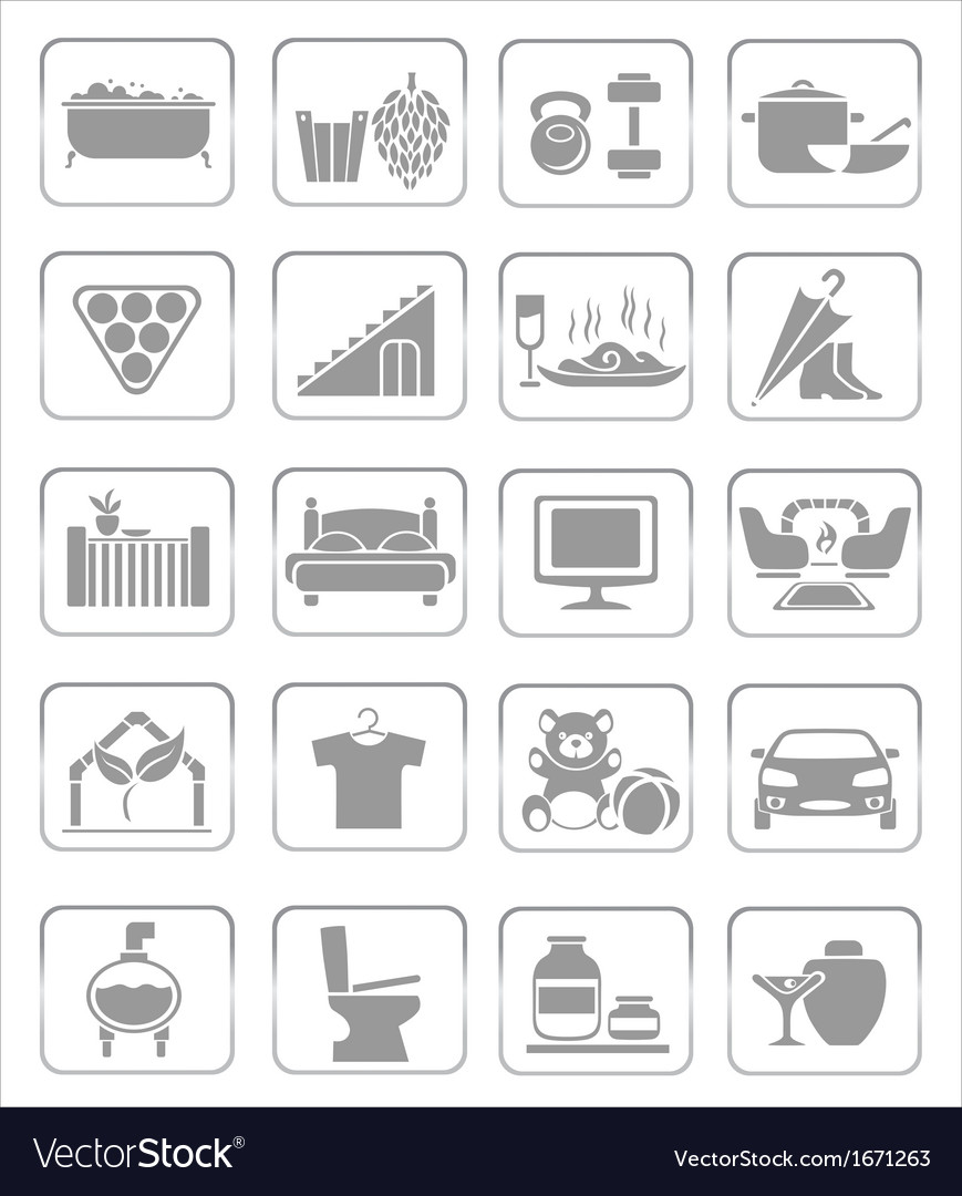 Interior icons vector | Price: 1 Credit (USD $1)
