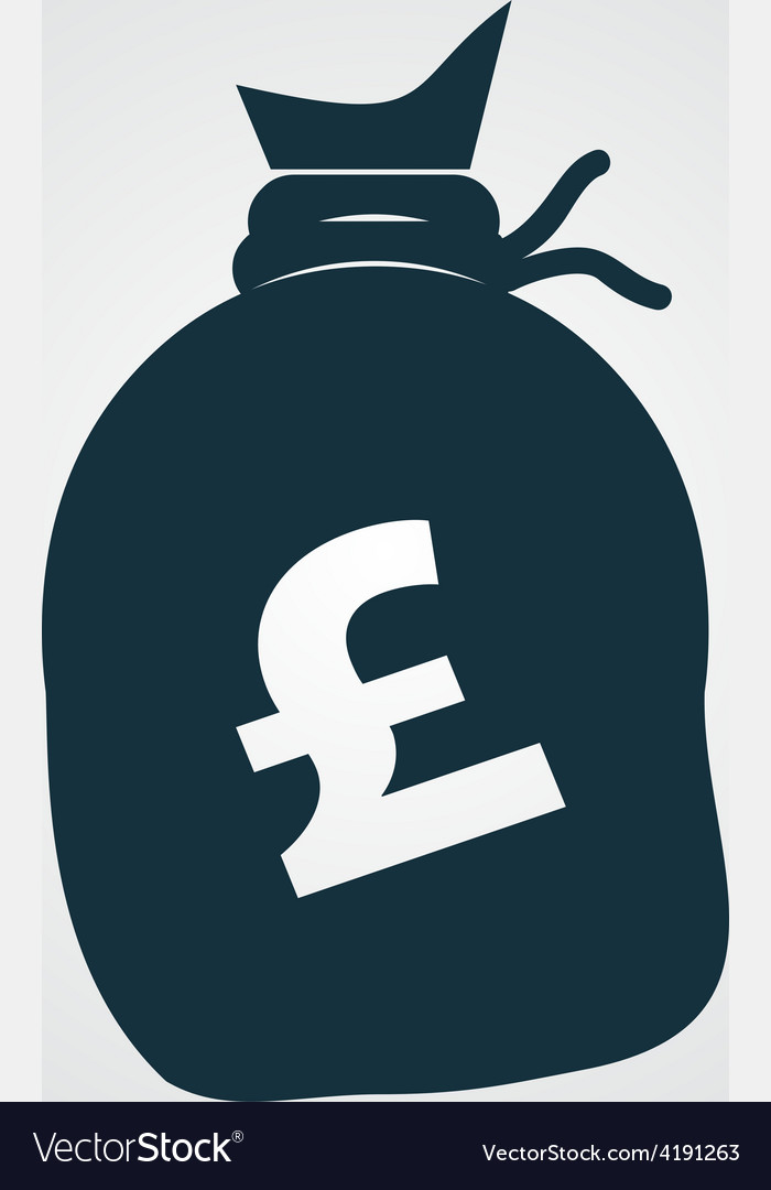 Money bag icon pound gbp vector | Price: 1 Credit (USD $1)