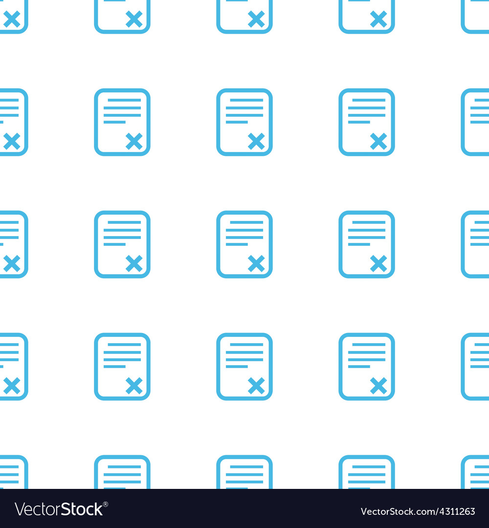 Unique bad document seamless pattern vector | Price: 1 Credit (USD $1)