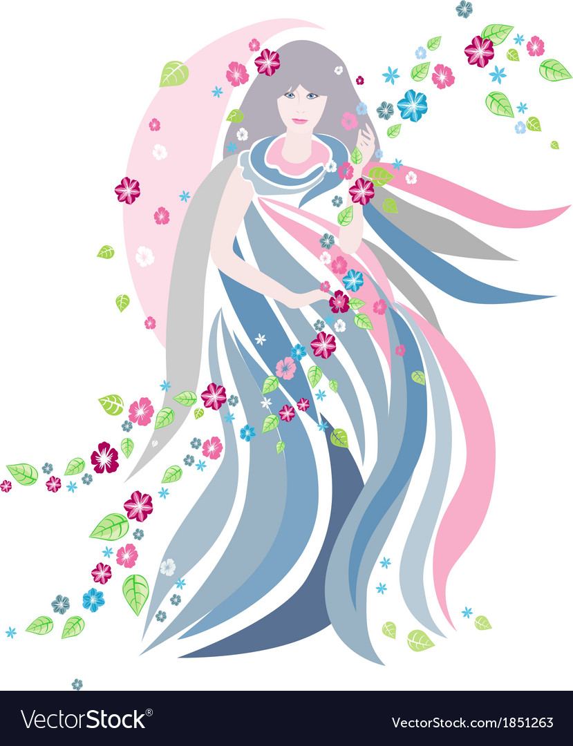 The women of spring season vector | Price: 1 Credit (USD $1)