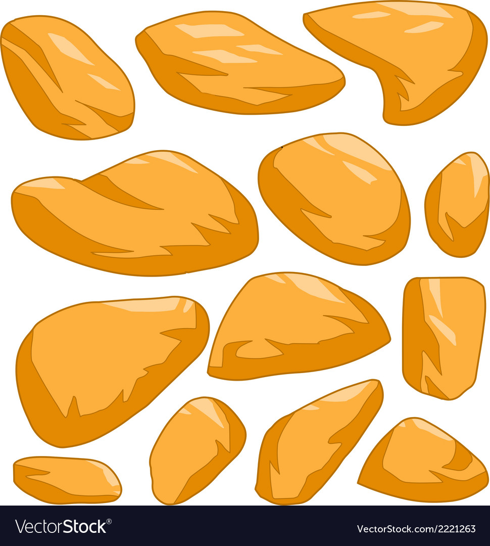 Yellow stone vector | Price: 1 Credit (USD $1)